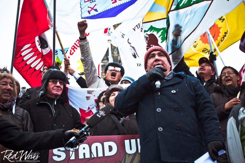 Clayton Thomas-Muller #IdleNoMore Ottawa Rally