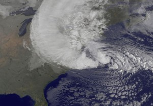 Hurricane Sandy's size and intensity signals the new era of storms and devastation we can expect from the effects of climate change. Photo Credit: AP