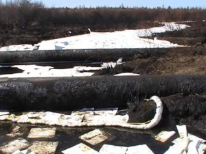 Enbridge Pipeline spill site, Deer River, MN
