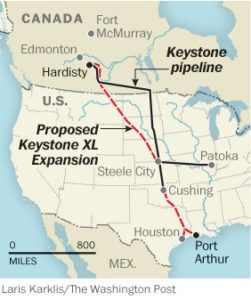 New Keystone XL Pipeline Route