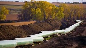 The Keystone oil pipeline under construction in North Dakota. (Reuters)