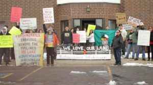 Red Lake Members take on Enbridge Energy, one arrested