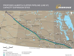 Breaking: Enbridge's Line 67 tar sands pipeline… an estimated 600 gallons spilled near Viking, Minnesota