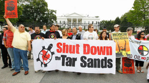 IEN action in front of the White House against KXL