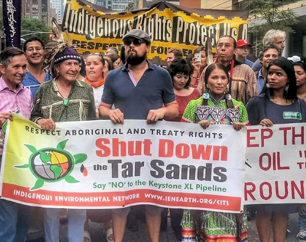 The Indigenous Environmental Network thanks Leonardo DiCaprio for his Golden Globes Acceptance Speech